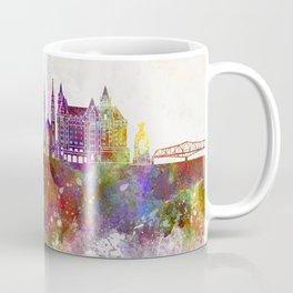 Ottawa V2 skyline in watercolor background Coffee Mug