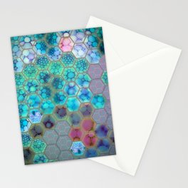 Onion cell hexagons Stationery Cards