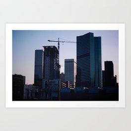 Denver Skyline Dusk Art Print
