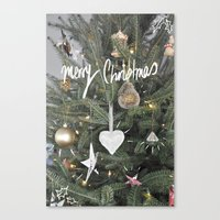 christmas tree Canvas Prints featuring Christmas Tree by Tamsin Lucie
