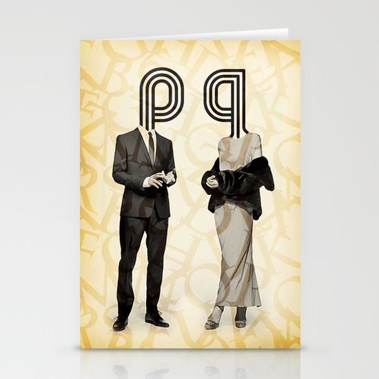 Mr P and Mrs Q Stationery Cards