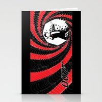 james bond Stationery Cards featuring James Bond Casino Royale by Kozmanaut