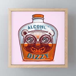 Makes me dizzy Framed Mini Art Print