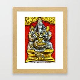 Indian Temple Elephant Van Goth Framed Art Print