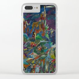 Tunes Of Southern Night Clear iPhone Case