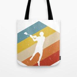 Retro Vintage Lacrosse player product Gift For Lacrosse fans design Tote Bag