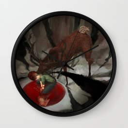 Hannibal: What do you see? (square) Wall Clock