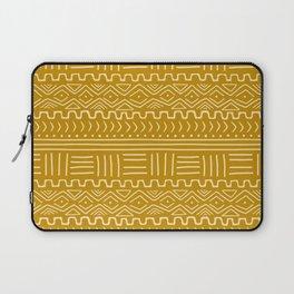 Mud Cloth on Mustard Laptop Sleeve