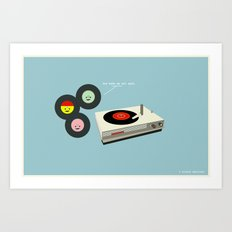 You Make My Art Spin Art Print