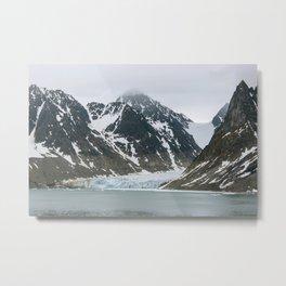 Arctic glacier scene Metal Print