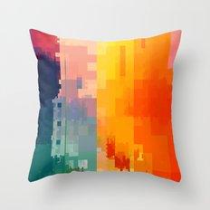 DIGITAL GLITCH 3 Throw Pillow