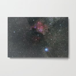 The North America Nebula in Cygnus Constellation, Brightest star Deneb Metal Print