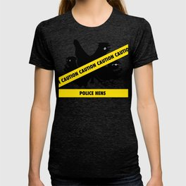 Police Hens Silhouette T-shirt
