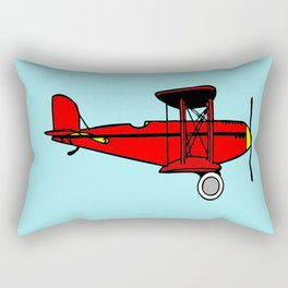Red Biplane Rectangular Pillow