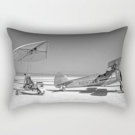 Paresev 1-A on Lakebed with Tow Plane Rectangular Pillow
