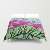musa Duvet Covers featuring Magnolias by maggs326
