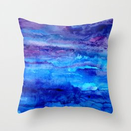 Spiritual Realm - Fantasy Acrylc painting Throw Pillow