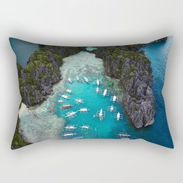 Island hopping in the Philippines Rectangular Pillow