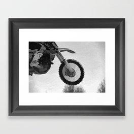 Motocross Dirt-Bike Racer Framed Art Print