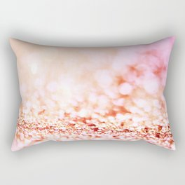 Pink shiny glitter - Sparkle Girly Valentine Backdrop Rectangular Pillow