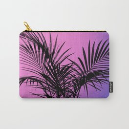Palm tree in black with purplish gradient Carry-All Pouch