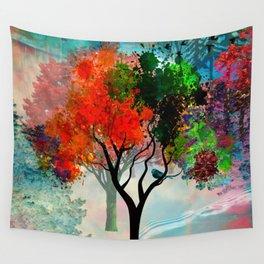 Lavish Abstract Landscape Wall Tapestry