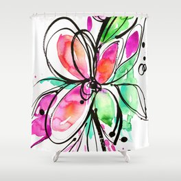 Ecstasy Bloom No. 1 by Kathy Morton Stanion Shower Curtain