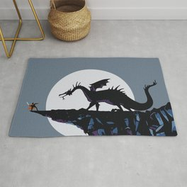 Maleficent, the dragon Rug