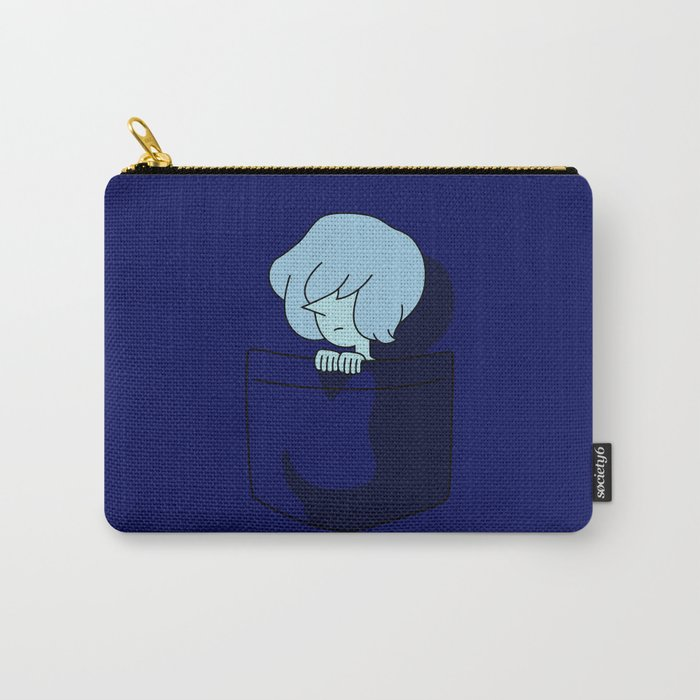 Blue Pearl Pocket Tee Carry-All Pouch