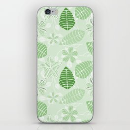 Tropical Green Leaf Floral Pattern iPhone Skin
