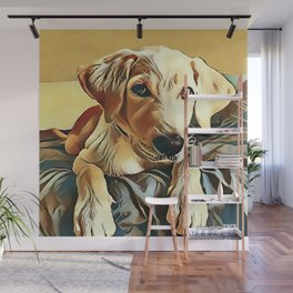 Yellow Labrador Retriever Puppy Wall Mural