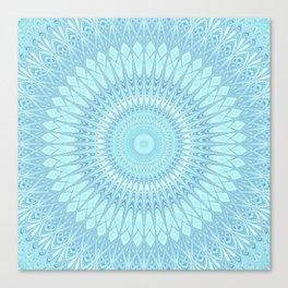 Ice Star Mandala Canvas Print