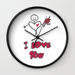 "Heartman ""I Love You"" Wall Clock"