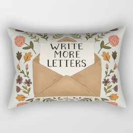 Write More Letters Rectangular Pillow