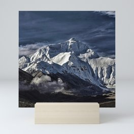 Mount Everest from the north side view in China Mini Art Print