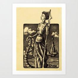DELINDA Art Print