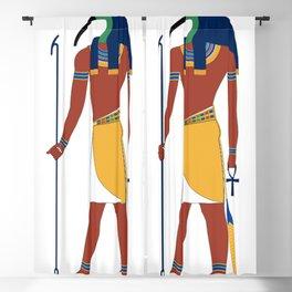 Ancient Egyptian deities Thoth Anubis Blackout Curtain