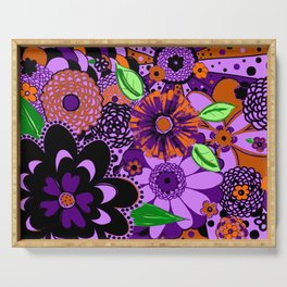 Flowers To Go Serving Tray