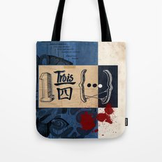 one and three quarters of things Tote Bag