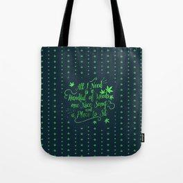 Weed-poetry Tote Bag