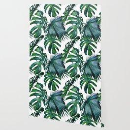 Tropical Palm Leaves Classic II Wallpaper