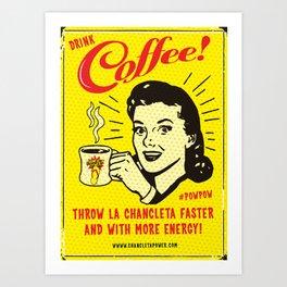 Chancleta & Coffee Art Print