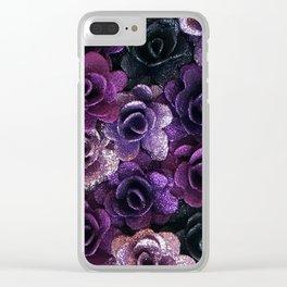 Purple Rose Clear iPhone Case