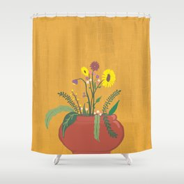 Mustard Shower Curtain