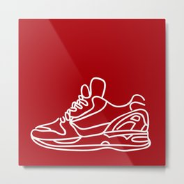 Sneakers Outline #4 Metal Print