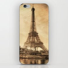 Vintage Eiffel Tower 2 iPhone & iPod Skin