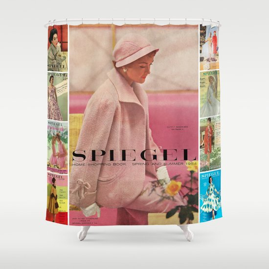 1954 Spring/Summer Catalog Cover Shower Curtain