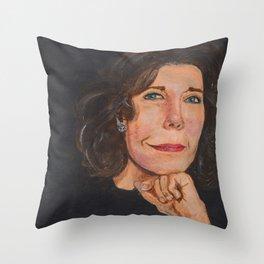 Lily Tomlin Portrait Throw Pillow