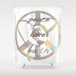 Peace Love Earth Shower Curtain