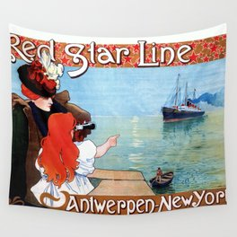 Red  Star Line Antwerpen New York Wall Tapestry
